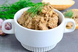 Рецепты паштета из куриной, говяжьей, свиной и утиной печени